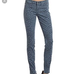 Rich & Skinny  Blue leopard mid rise skinny jeans